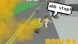 ROBLOX Exploit Trolling - Mustard Gasing ODers in Town of Robloxia