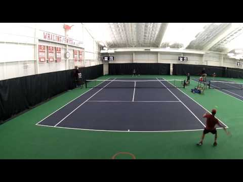 Men's Tennis highlights vs. Purdue and Texas A&M-Corpus Christi [Feb. 14, 207]