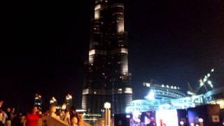 Mi viaje a Dubai (EUA) Burj Khalifa de noche. El rascacielos más alto del Mundo