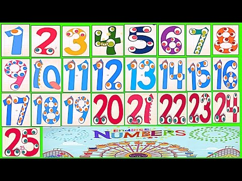 Learn Numbers Kids Count 1,2,3,4,5,6,7,8,9,10,11,12,13,14,15