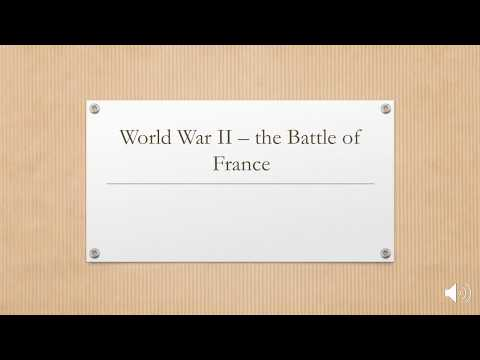 The Battle of France - attack through the low countries