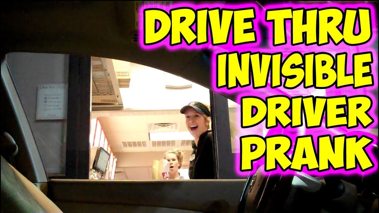 DRIVE THRU PRANK INVISIBLE DRIVER FREE