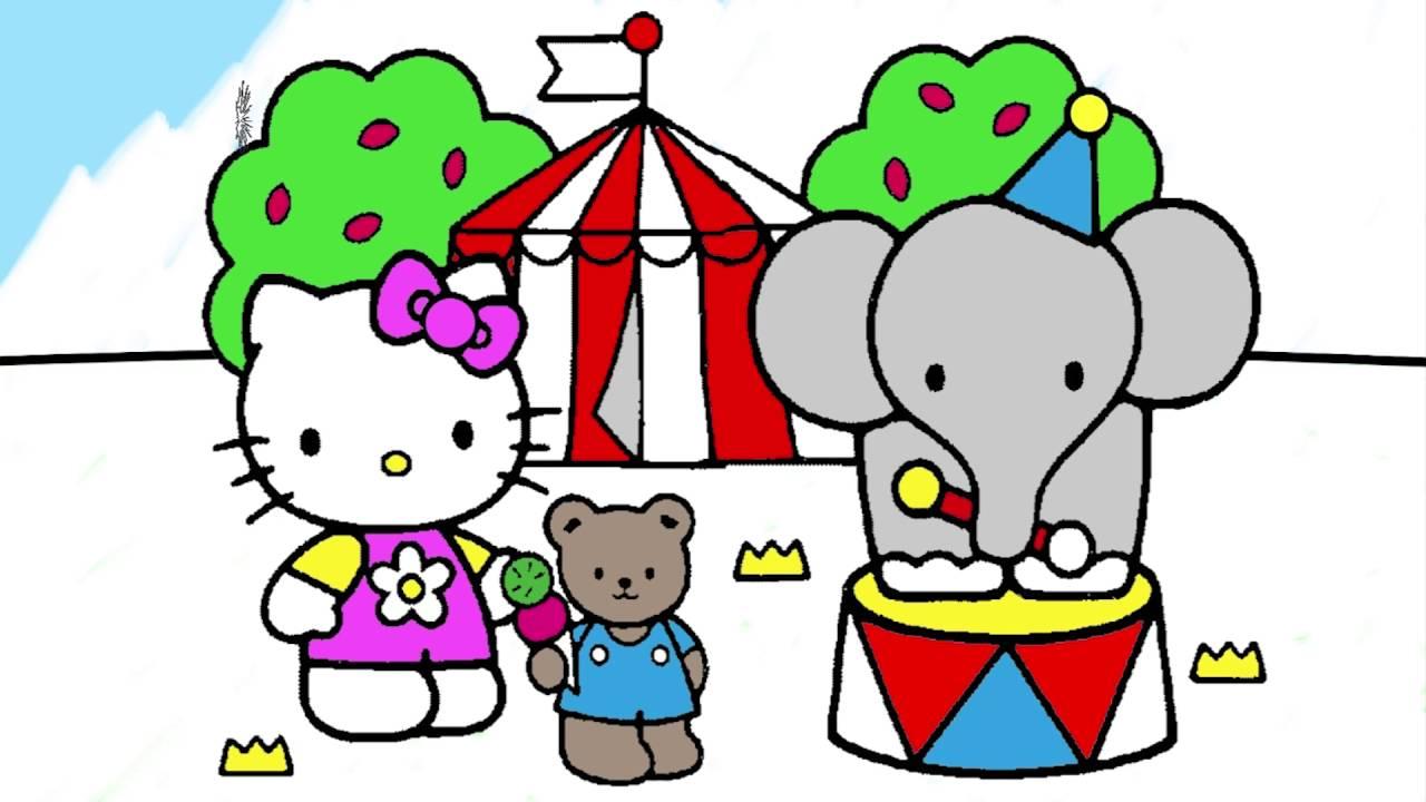 Hello Kitty çizgi Film Karakter Boyama Sayfası 5 Minik Eller