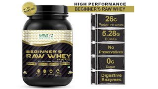 NATURYZ Beginners Raw Whey Protein Concentrate with Digezyme 1KG Available on Amazon & Flipkart