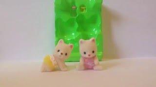 Обзор на Sylvanian Families шелковистые котята двойняшки