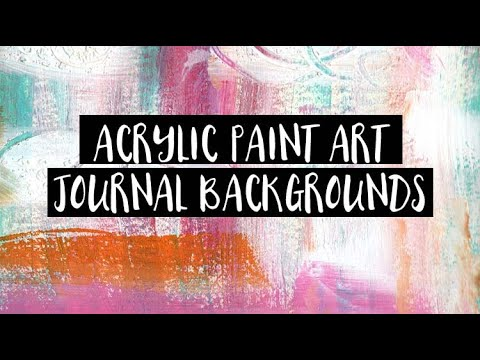Acrylic Painting Art Journal Background Pages