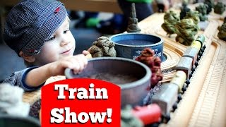 A Kid's Day At The Train Show: Thomas Wooden Trains, Duplo, And More!