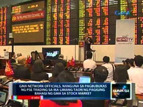 Saksi: GMA Network officials, nanguna sa pagbubukas ng PSE trading