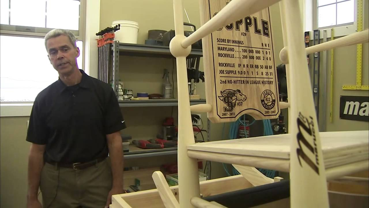 Astoria Man Handcrafts Mariano Rivera Retirement Baseball Bat Rocking Chair    YouTube