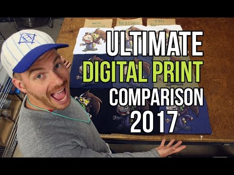 The Ultimate T Shirt Digital Print Comparison