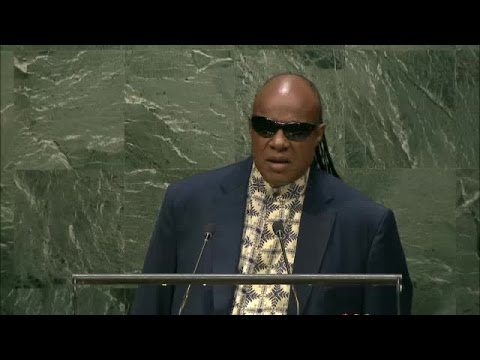 Stevie Wonder (UN Messenger of Peace) at International Day of Peace 2016 - Student Observance