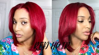 How To Red Hair Without Bleach | L'Oreal Hicolor HiLights | Kay Monae