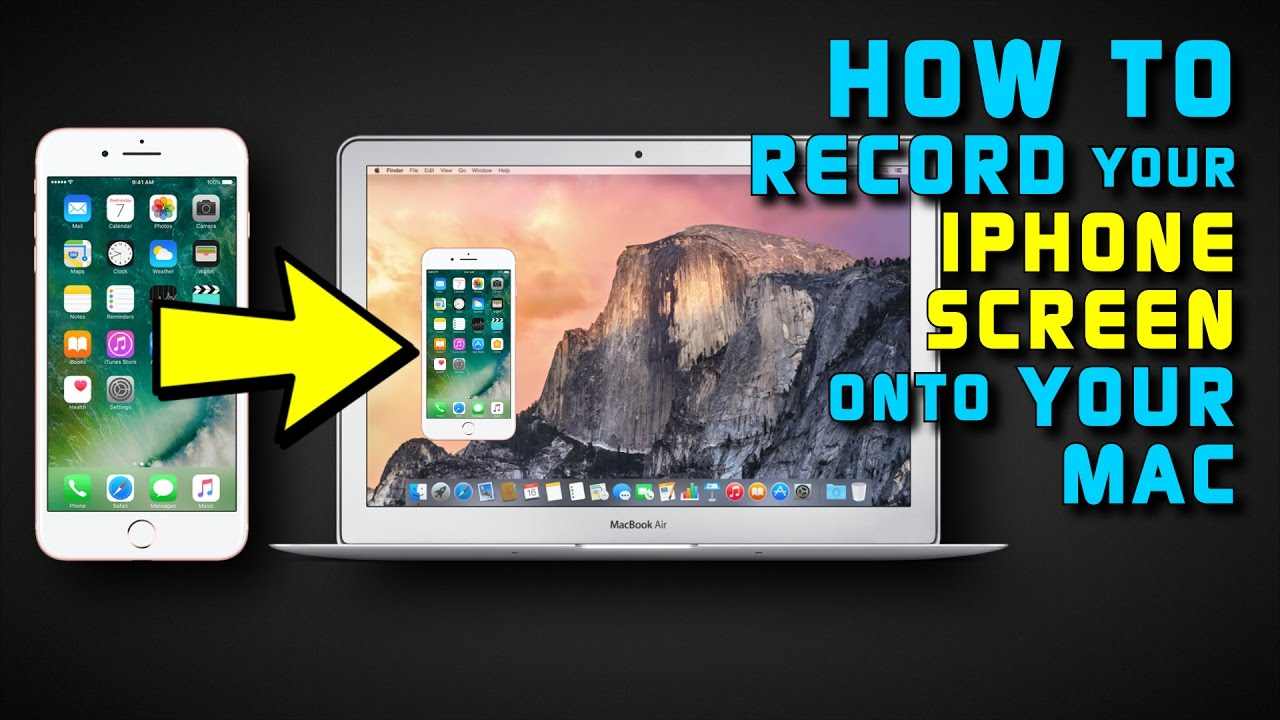 how to get iphone photos onto mac how to record your iphone amp screen to your mac 20094