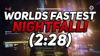 Destiny - Worlds Fastest Nightfall In 2:28! The Wretched Eye Strike Speedrun WR !