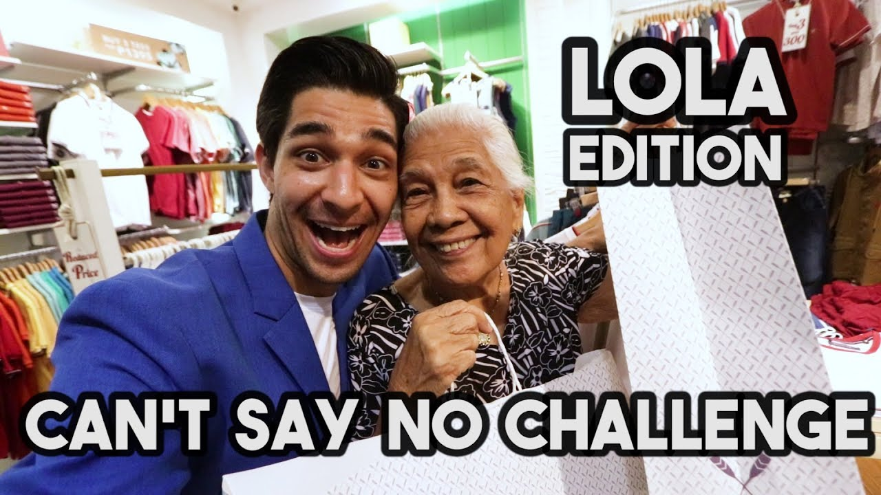 CAN'T SAY NO CHALLENGE with My Filipino Lola