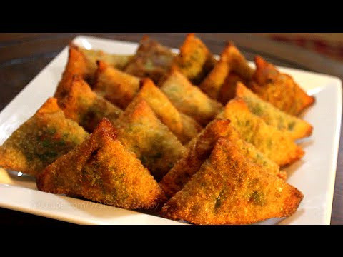 How to make samosa - ( سمبوسك عراقي باللحم  - سمبوسه ( بورك , بوريك / بورق