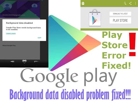 ▶How to Fix Background Data Disabled Problem on play store [Background Data Disabled-Play store Fix]