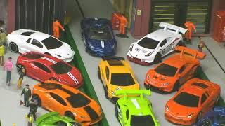 Hot Wheels 18 Lamborghinis - Race & Drift  - Live Action Hot Wheels not Stop Motion