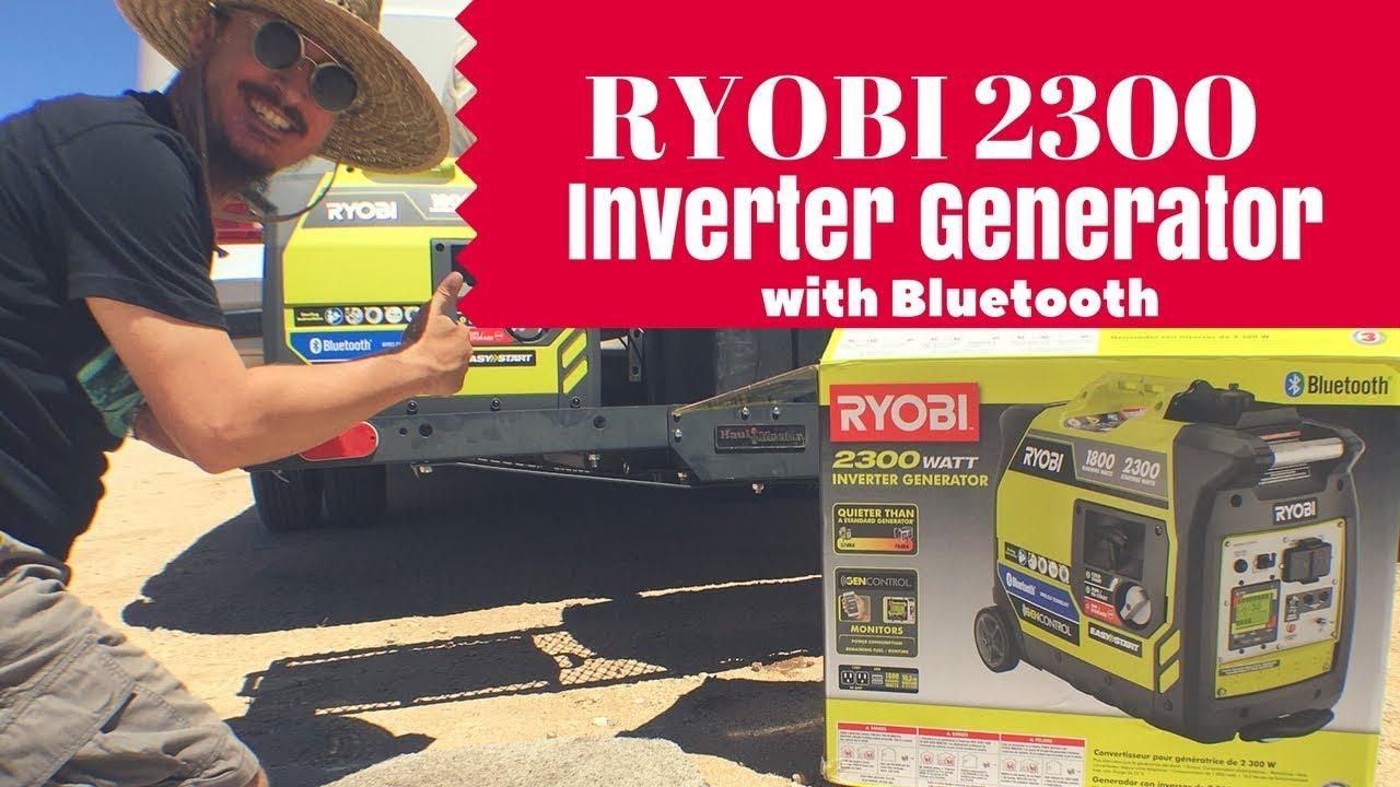Ryobi 2300 Inverter Generator with Bluetooth Unboxing (VagabonDaze)