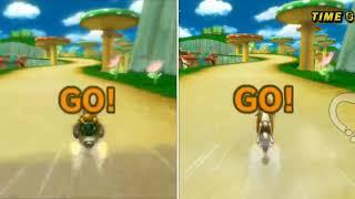 [MKW Comparison] Mushroom Gorge (Glitch) - Jellopuff (TAS BKT) VS Bryce (Former TAS BKT)