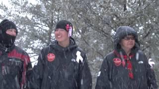 Arrivée à Manawan de la marche hiver 2012 (Carrières en santé no 10)