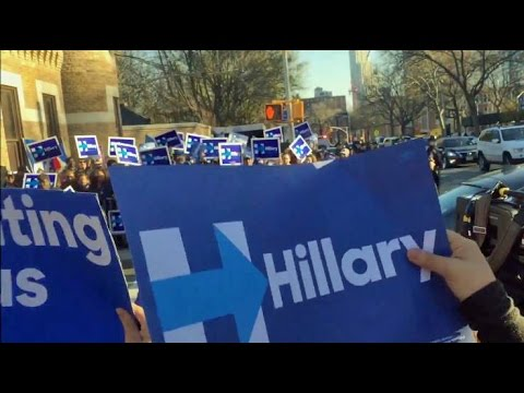 Rally for Hillary Clinton at Democratic Presidential Debate, Brooklyn, 2016