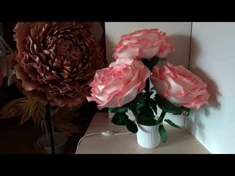 Букет из трёх светящихся роз. Анонс МК.