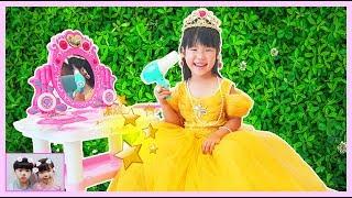 유니공주로 변신!! 미미 화장대 마법 장난감 놀이 Yuni Pretend Play with Makeup Toys and Cute Vanity Table for Girls로미유스토리