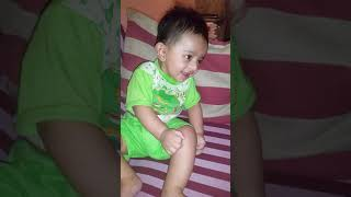 Sweet little baby laughing