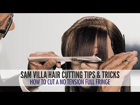 How To Cut A No Tension Full Fringe   Zoey Deschanel Bangs Tutorial