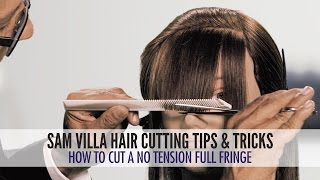 How To Cut A No Tension Full Fringe | Zoey Deschanel Bangs Tutorial
