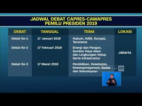 Jadwal Debat Pilpres 2019 Resmi Dirilis