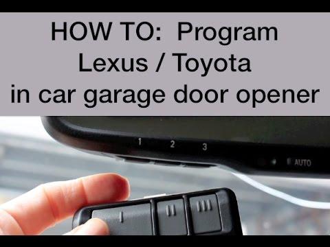 Image Result For How To Program The Garage Door Opener In Your Car