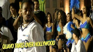 Quavo Huncho Album Release Basketball game in Hollywood