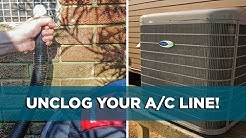 Easy Way to Get an AC Drain Line Unclogged