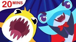 Baby Shark Halloween | Puppies Dress-Up | 5 Little Puppies | Nursery Rhymes by Little Angel