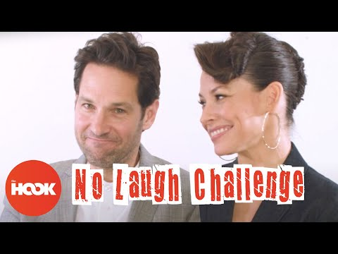 Paul Rudd and Evangeline Lilly Play The No Laugh Challenge | Ant-Man and The Wasp | The Hook