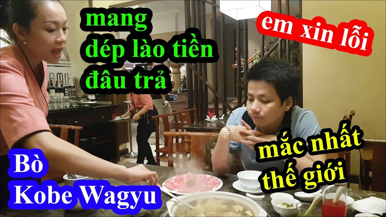Thanh niên mang dép lào vào nhà hàng ăn thịt bò Kobe Wagyu mắc nhất thế giới và cái kết