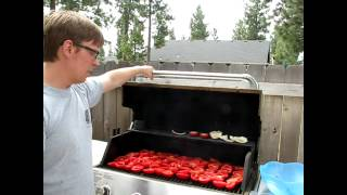 fire roasted tomato sauce how to make step by step directions on a patio chef bbq grill