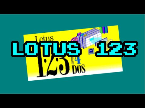 4K VINTAGE SOFTWARE LOTUS 123 FOR DOS