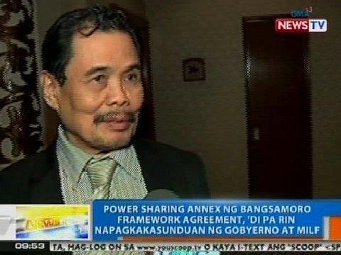NTG: Power sharing annex ng Bangsamoro Framework Agreement, 'di pa rin napagkakasunduan