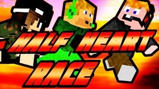 Minecraft - Half Heart Race [A NAGY FUTÁS ZUHANÁÁÁÁS!]