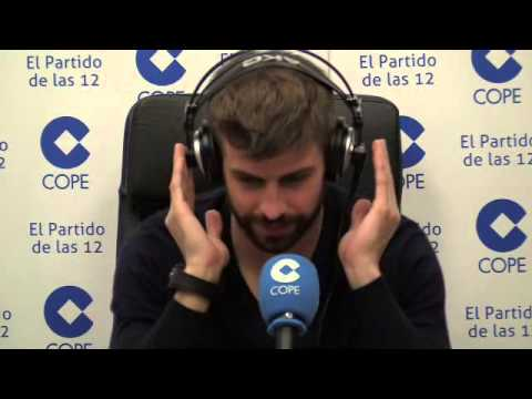 Entrevista a Gerard Piqué, en El Partido de las 12 (12-02-2015)