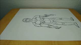 Fortnite Omega Skin - Drawing Time Lapse