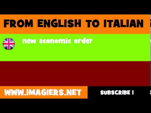How to say new economic order in Italian