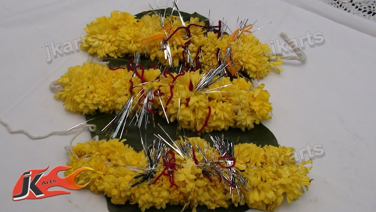 diy gajra veni flower garland for indian wedding how to make