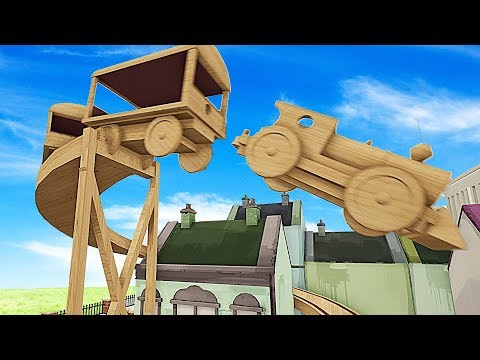 TRAIN CRASHES, JUMPS, & DERAILMENTS! BUILDING A STUNT TRAIN TRACK - Tracks Gameplay