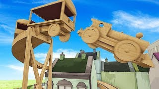 WHAT HAPPENS WHEN A TRAIN FLIES OFF OF THE END OF THE TRACK? - Tracks Gameplay