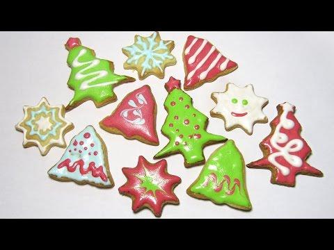 Новогоднее песочное печенье / Christmas Cookies / Мастер класс / DIY 🐞 Afinka