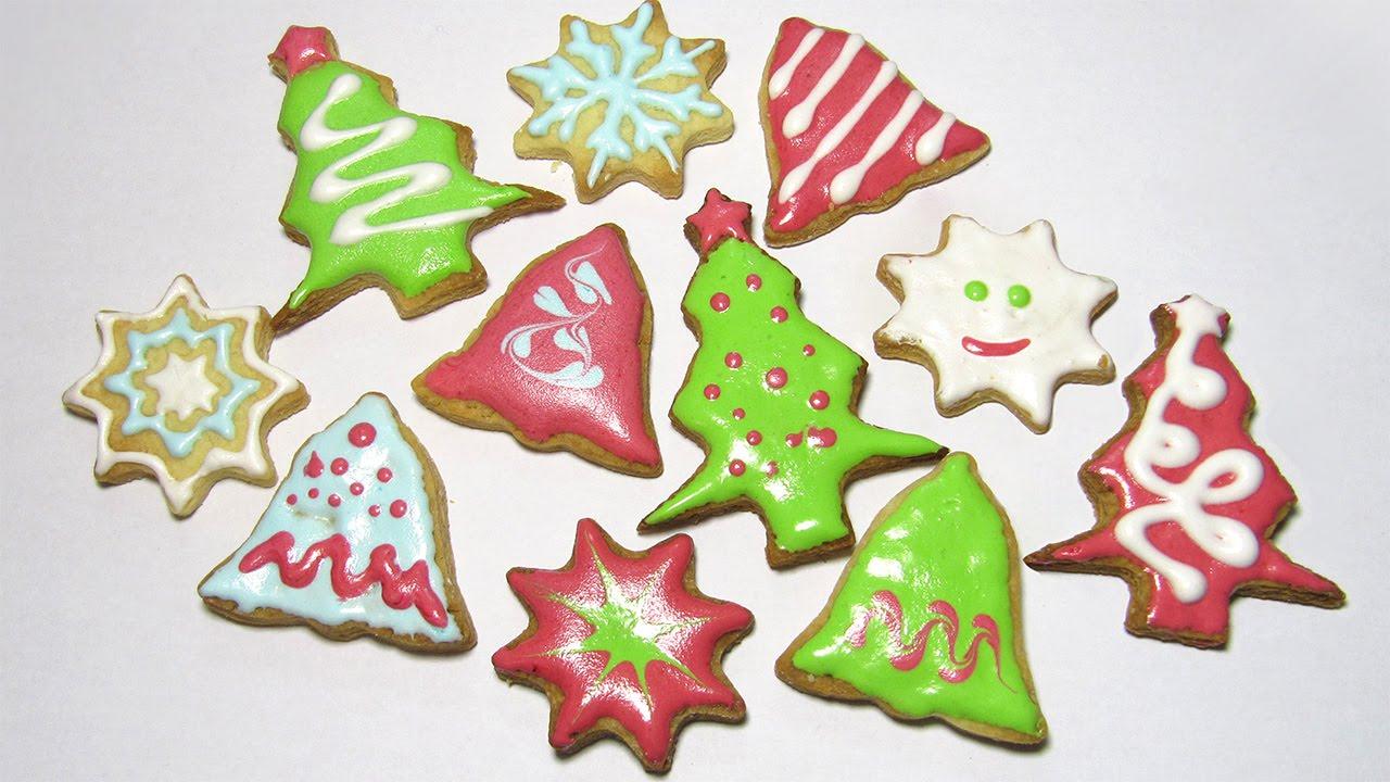 Новогоднее песочное печенье / Christmas Cookies / Мастер класс / DIY